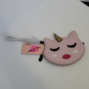 NWT Luv Betsy Pink Unicorn Coin Purse